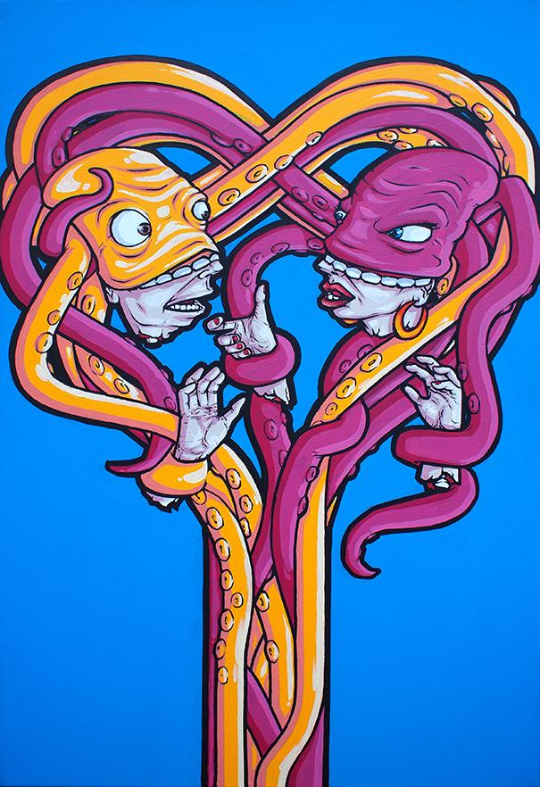 'Love Bites'. Canvas '10