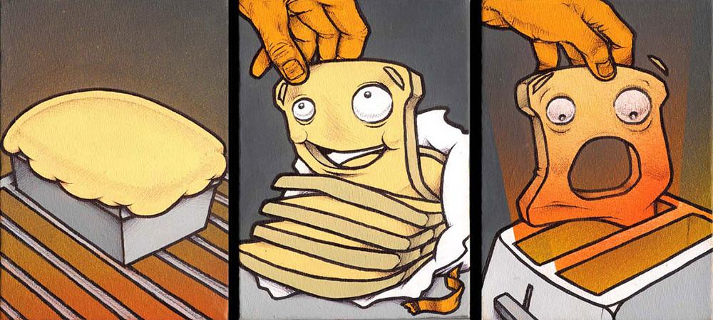 'Born & Bread'. Canvas '09