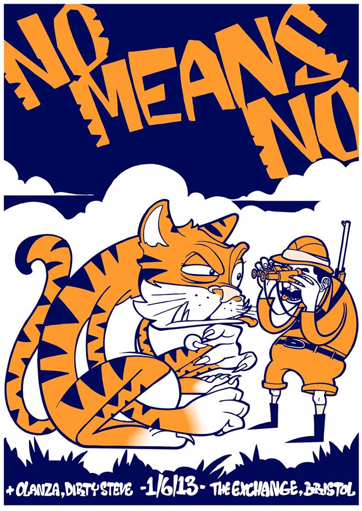 Nomeansno gig poster. 2 Colour screen print '13