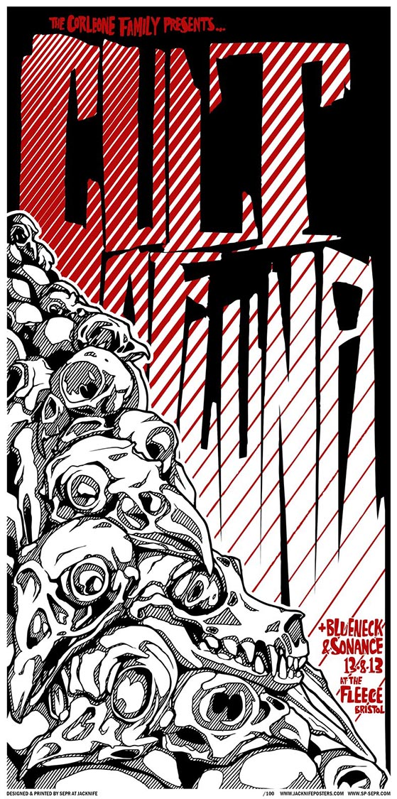 Cult Of Luna gig poster. 2 Colour screen print '13