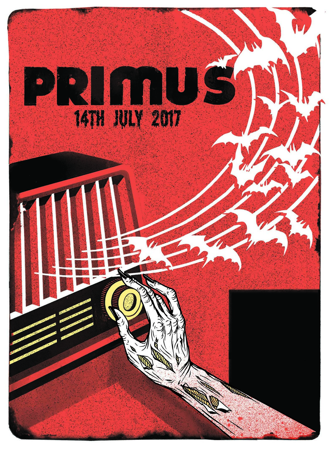 Primus gig poster. 3 Colour screen print '17. Collaboration with Epok