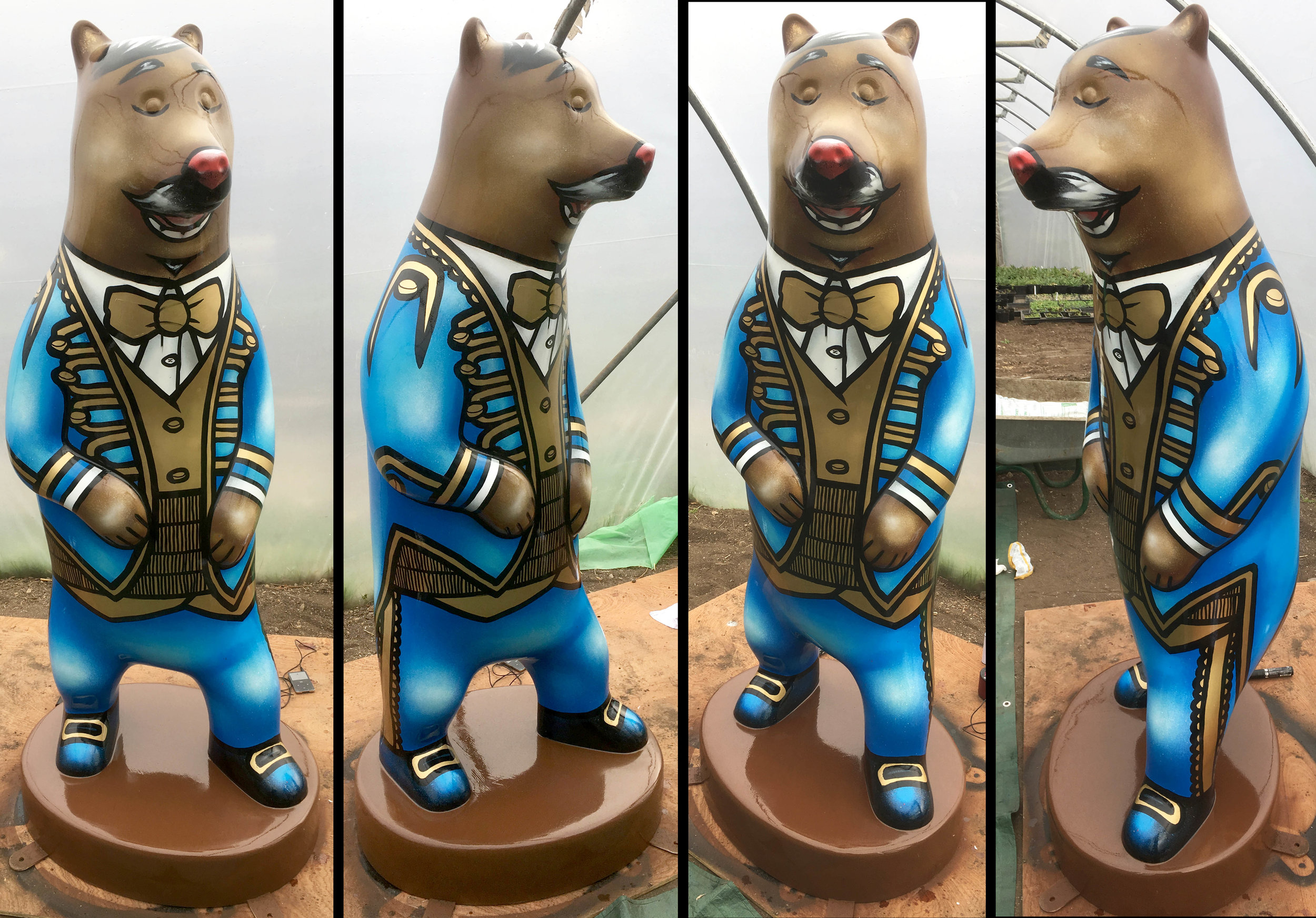 'Enrico Bearuso' My statue for the Wild In Art Bear project, Bristol '19