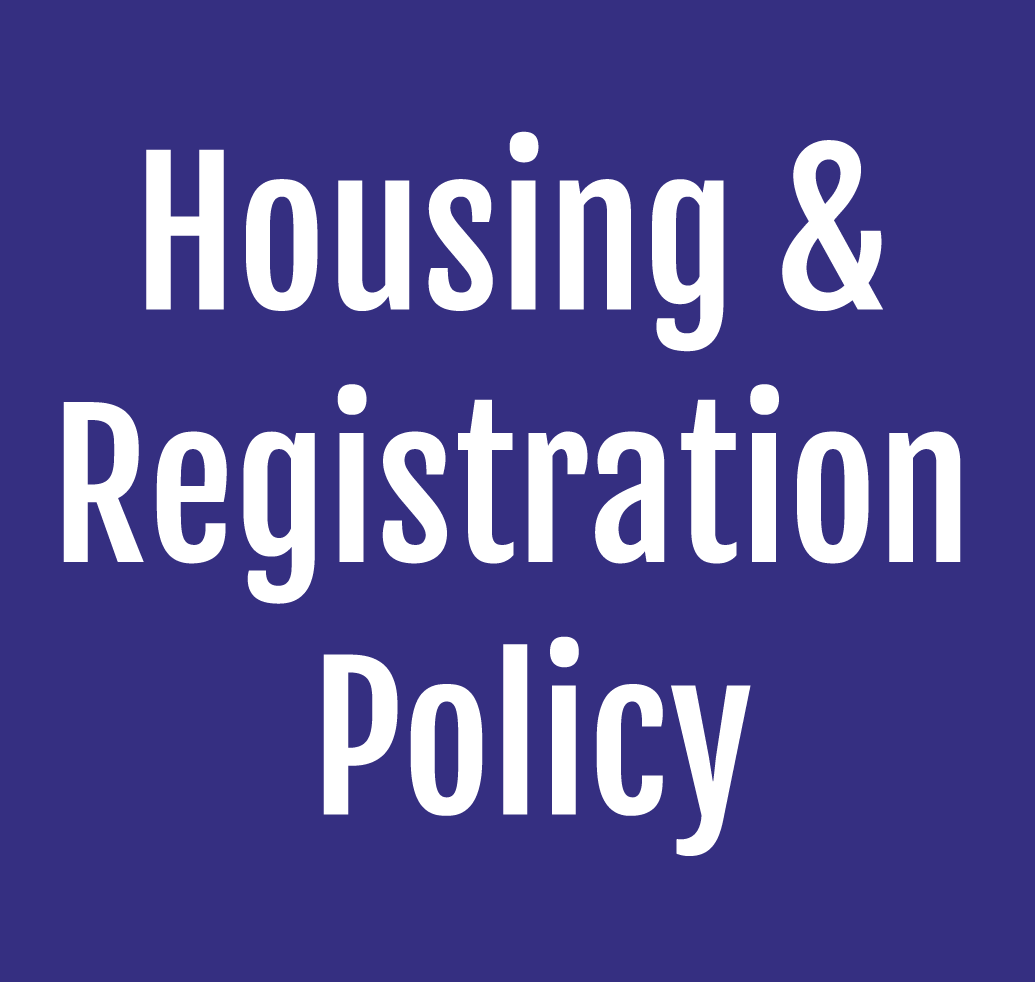 Exhibitors Housing and Registration Policy