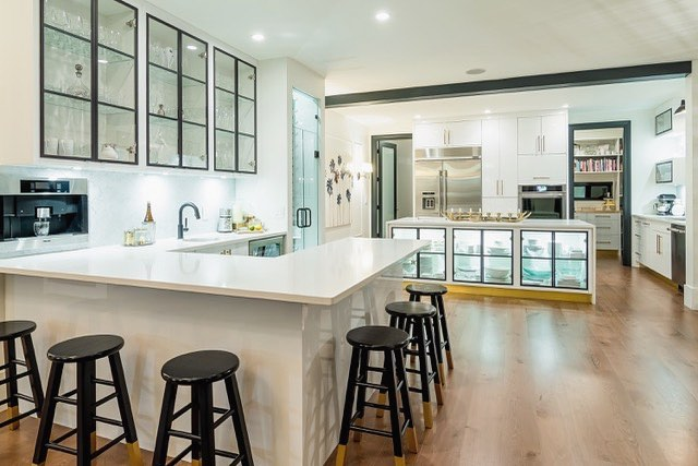 Love our coffee/wine bar in the kitchen #hubofthehouse #kleendesign