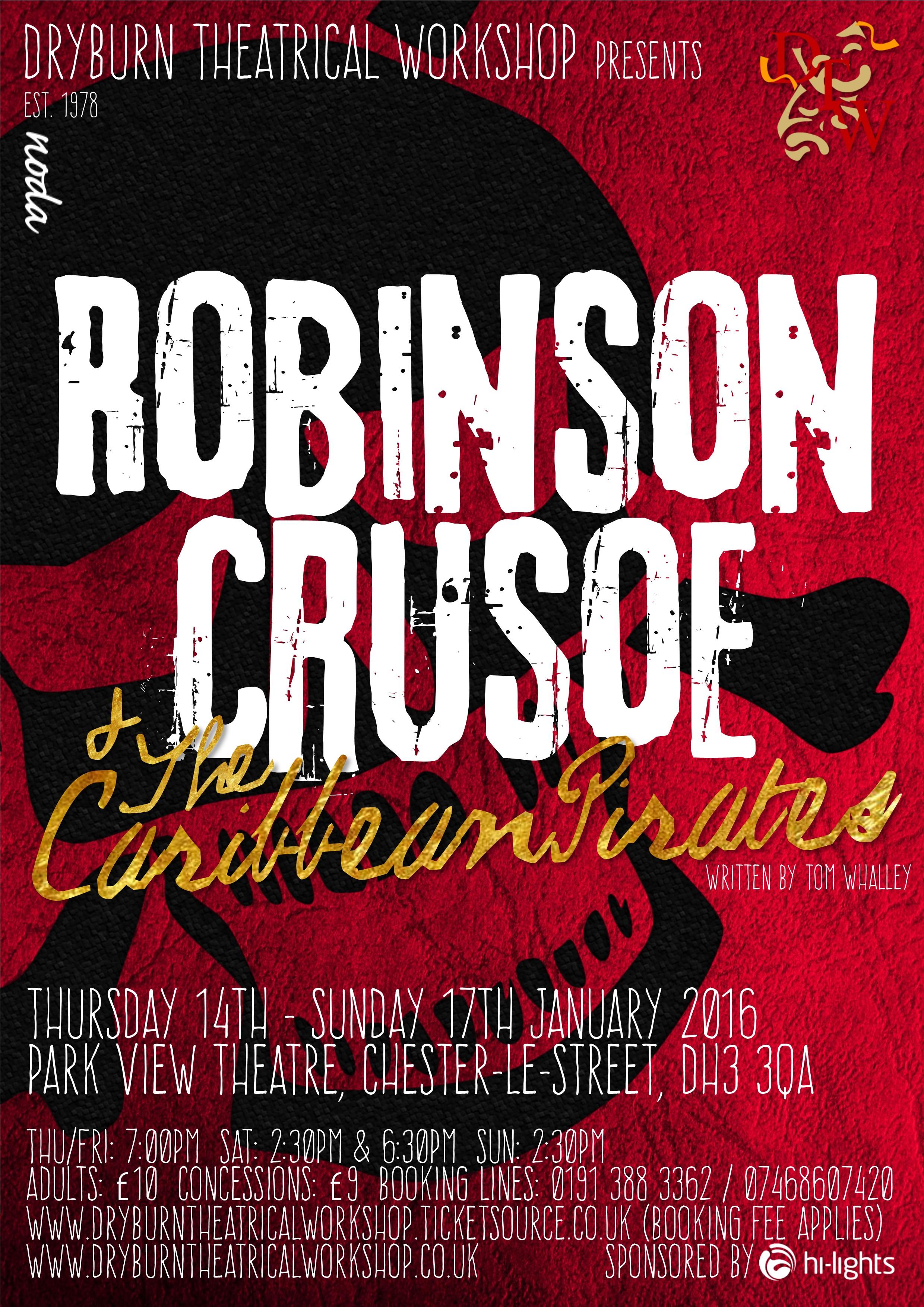 """THE NAME IS ROBINSON. ROBINSON CRUSOE."" -"