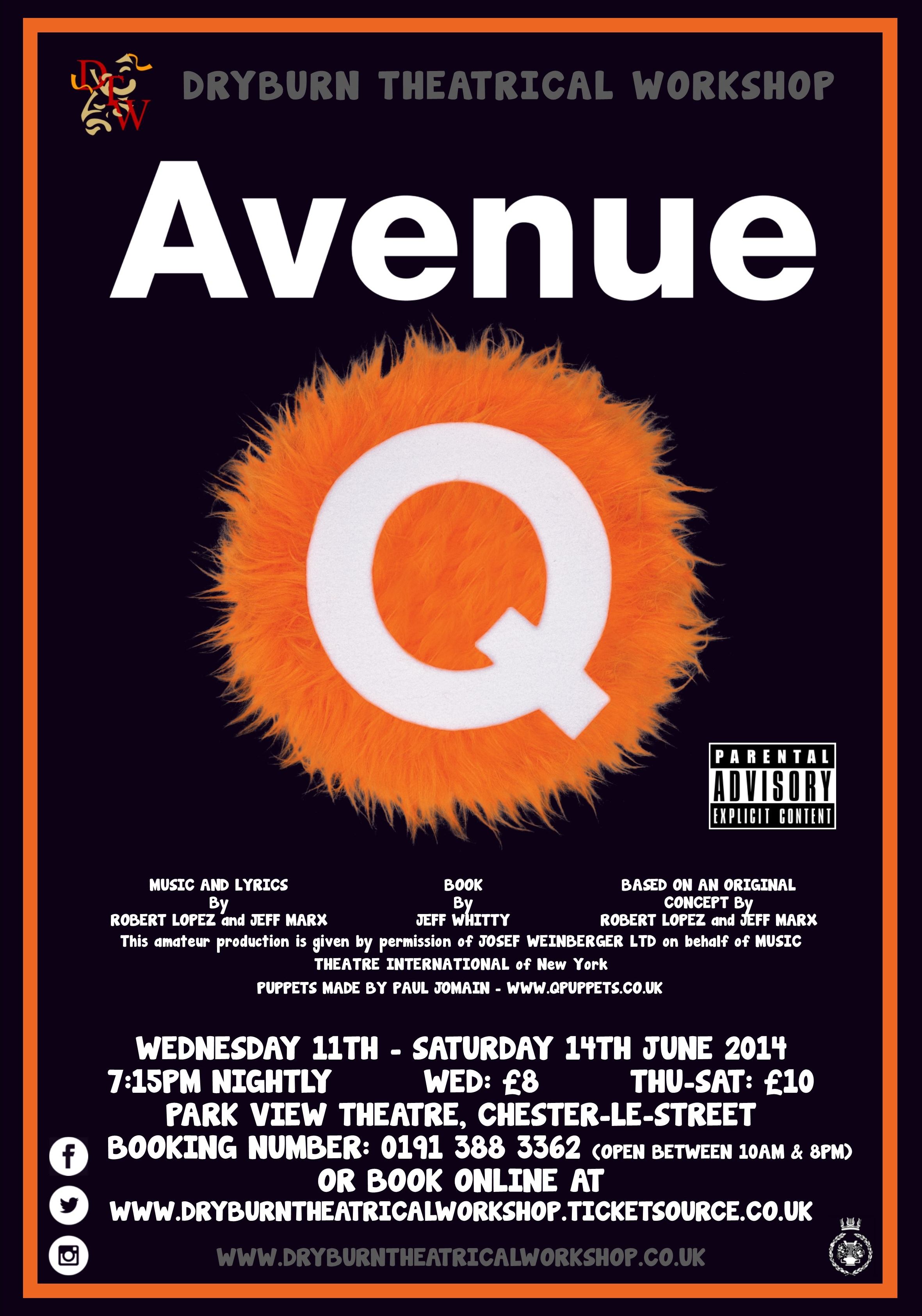 """AND AT THE END OF THE DAY, THERE'S NO WHERE TO GO, BUT HOME TO AVENUE Q."" -"