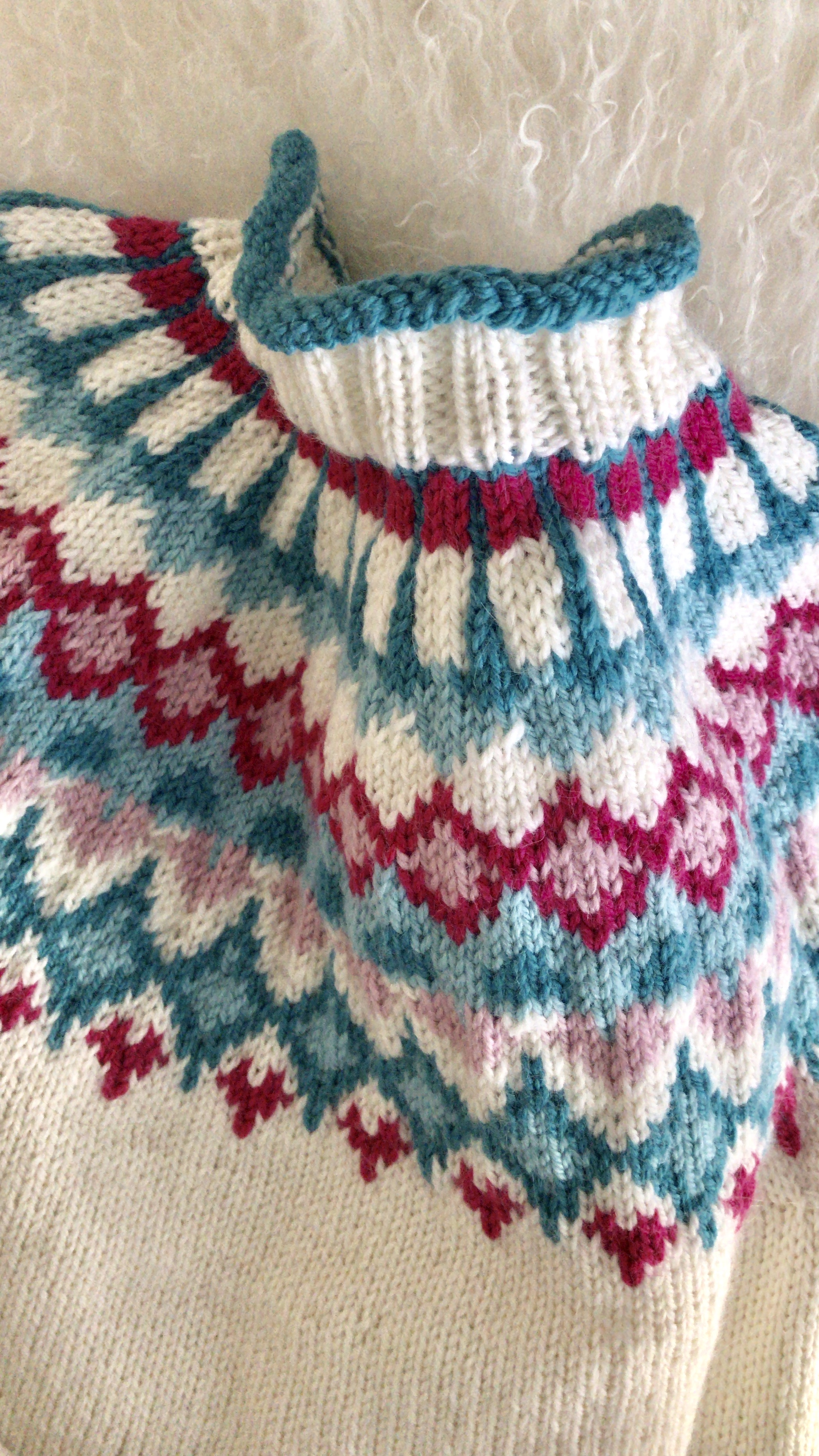 Mitt eget design, har valgt kalle den for Pudderpike genser -
