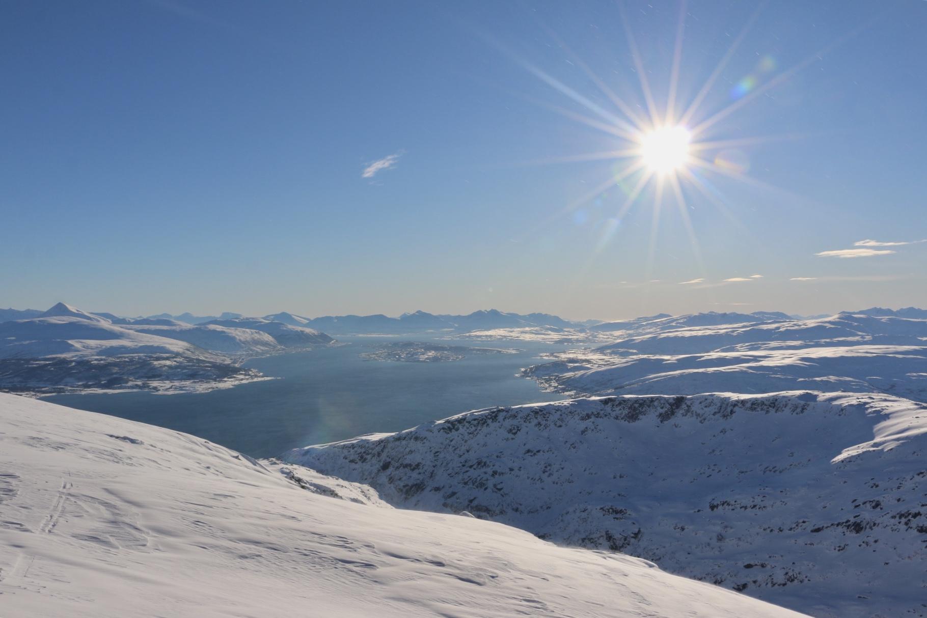 Tromsøya sett fra toppen