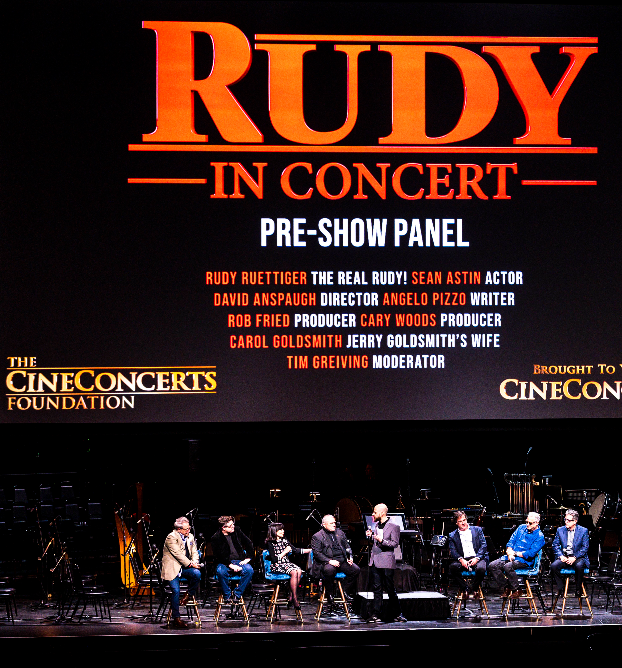 Rudy in Concert - On March 30, 2019, The CineConcerts Foundation in partnership with CineConcerts kicked off its first charitable film concert: Rudy in Concert.Among the attendees were over 1,000 children, families and nonprofit staff who received free ticket donations. The CineConcerts Foundation reached out to over 50 organizations across Southern California, including Create Now, Harmony Project and the L.A. Phil Assn.
