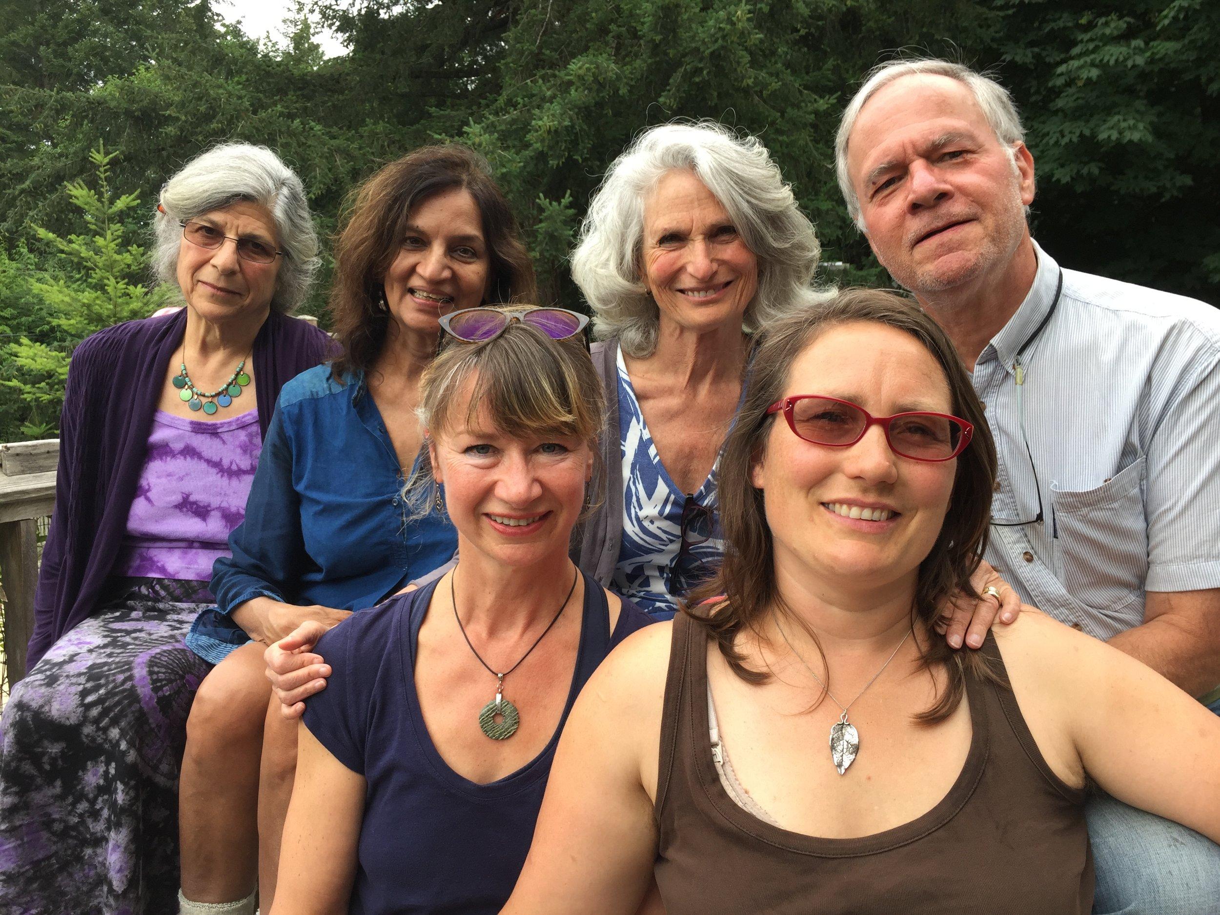 Photo left to right: Elizabeth Anderson, Deepa Narayan, Priya Huffman, David Rousseau, Sandra Wood and me