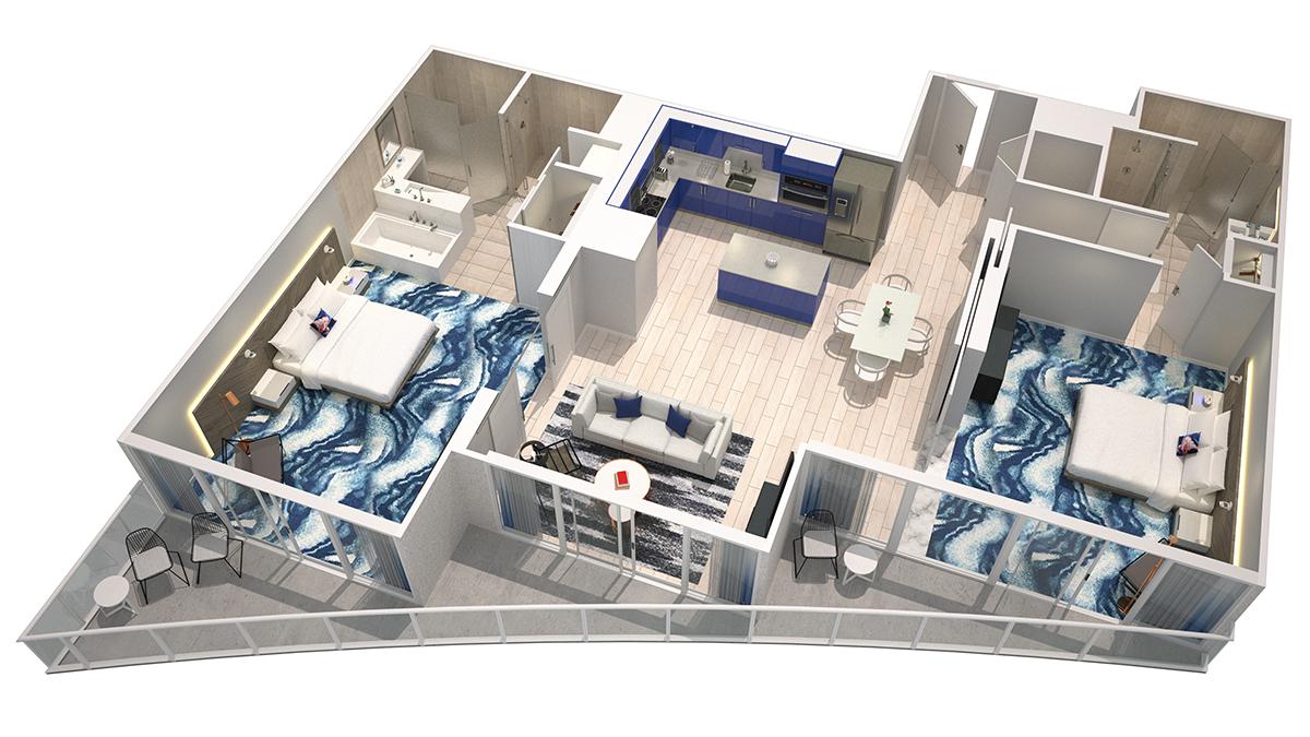 3D Sanctuary Model    Click for 3D virtual Tour of unit