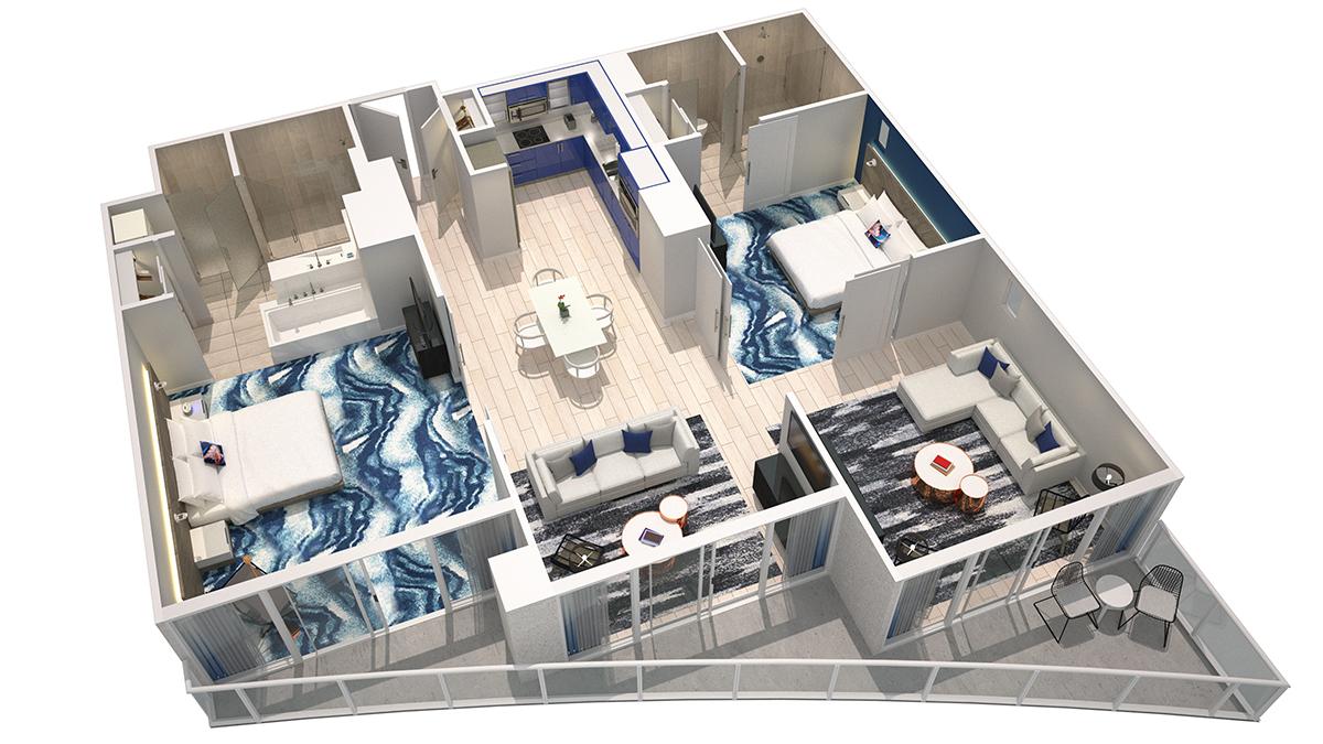 3DHaven Model    Click for 3D virtual Tour of unit