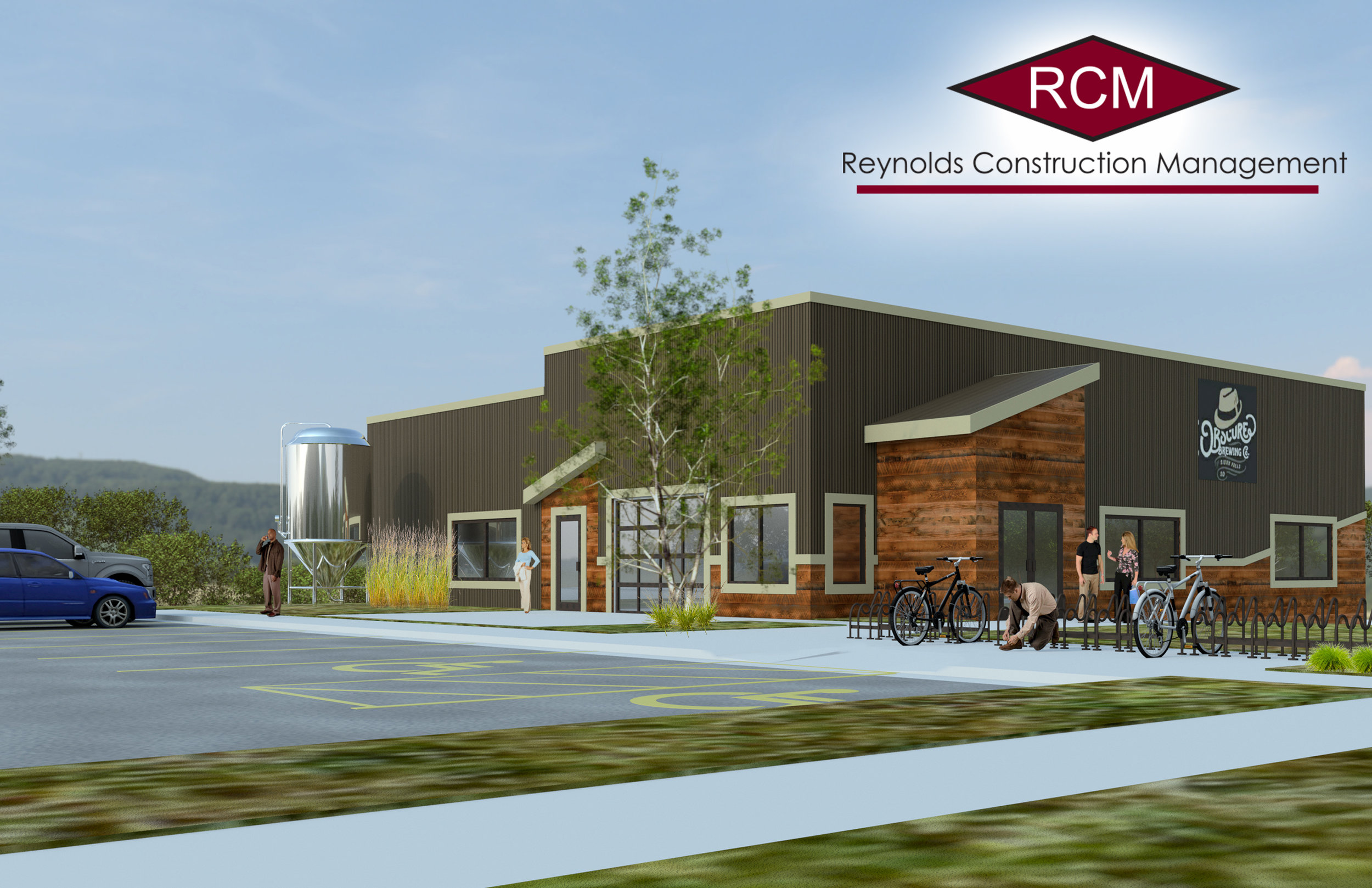 A rendering of Obscure Brewing currently under construction in east Sioux Falls.