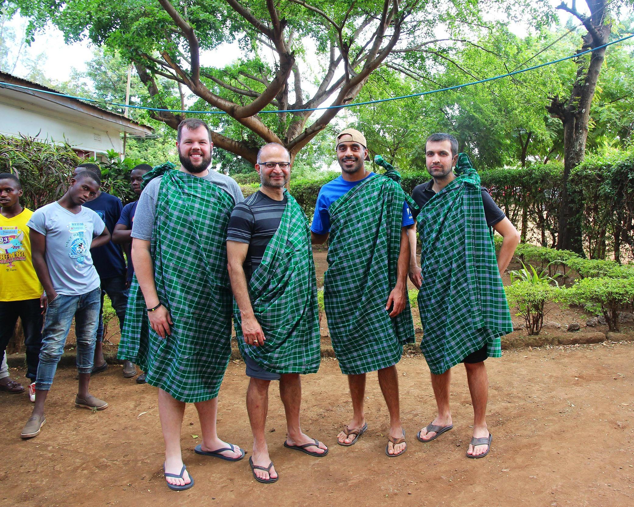 volunteers-in-tradtional-african-clothing.JPG