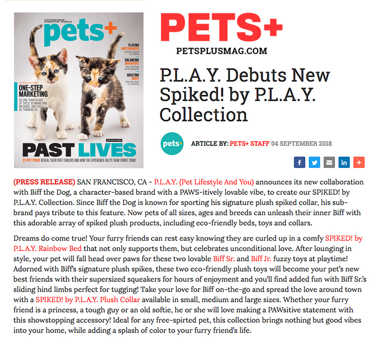 Pets + Magazine — September 4, 2018