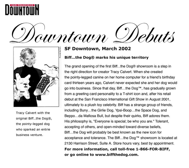 Downtown San Francisco Magazine — March 2002