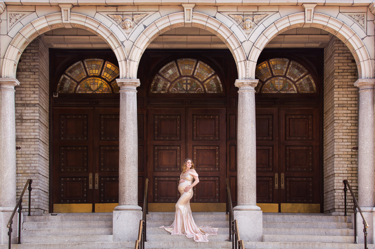 nyc maternity photoshoot church clinton hill gown vintage-4724.jpg