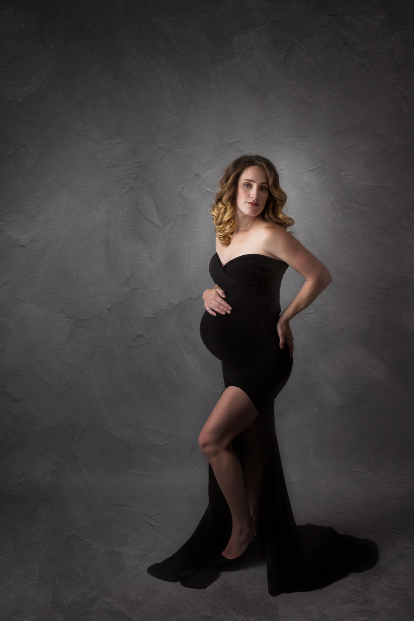 nyc maternity photoshoot little black dress prospect heights studio-2680.jpg