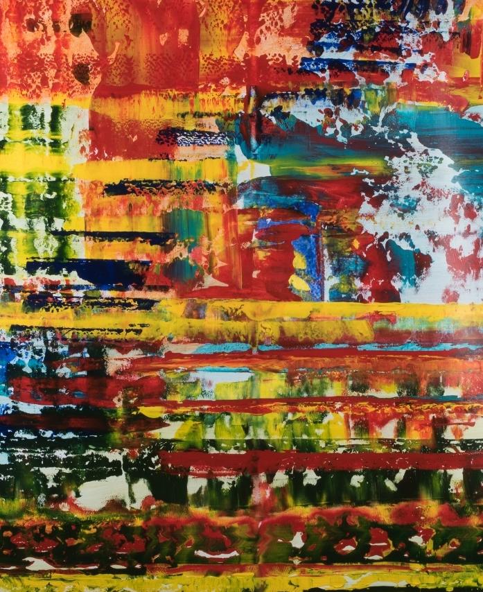 Summer Daze.  170 cm (h) x 140 cm (w) acrylic on un-stretched canvas. Painted 2017.