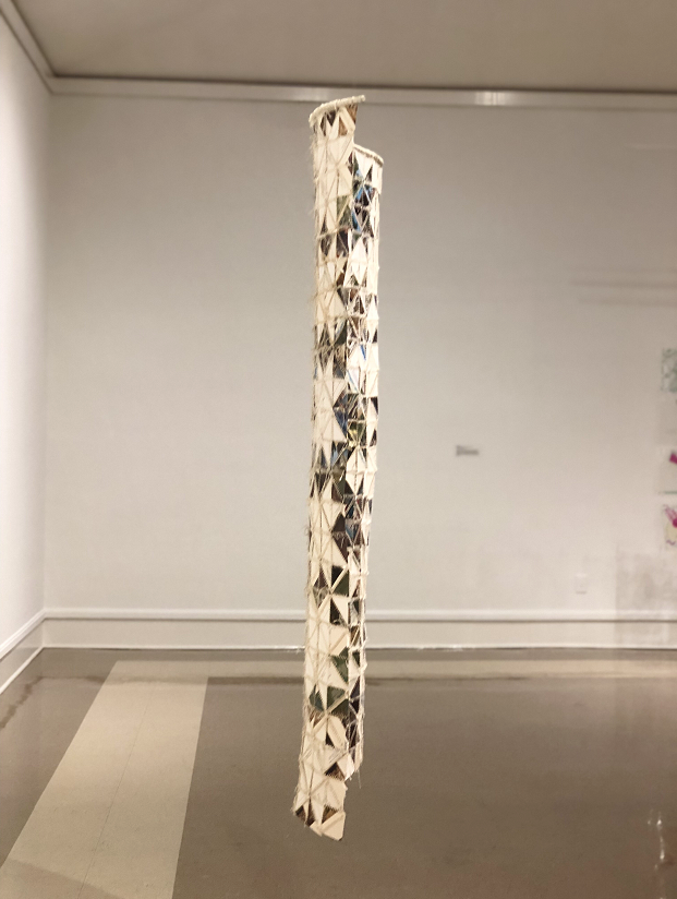 Stitching Memories, 2018. Mixed media installation: post cards and embroidery thread