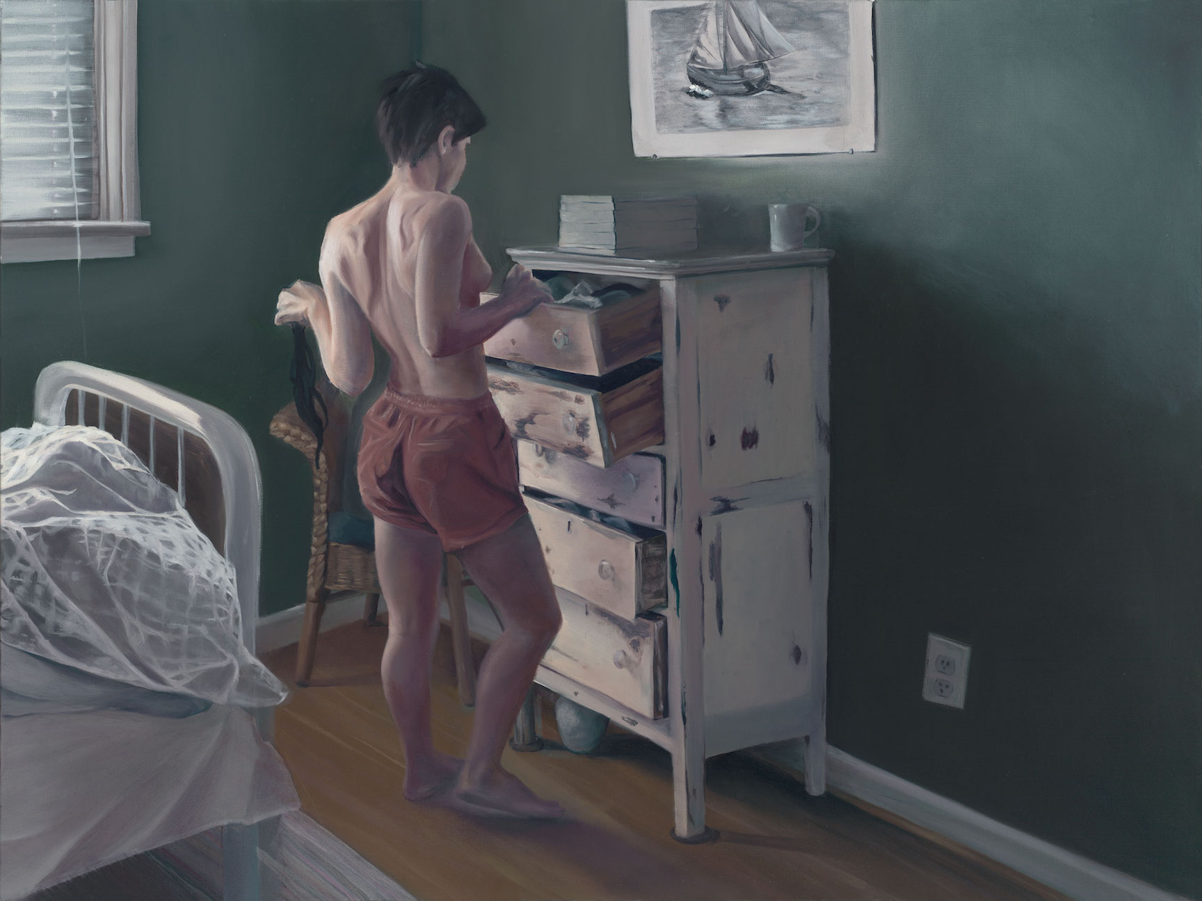 Getting Dressed, 48 x 36 inches, Oil on Canvas, May 2017