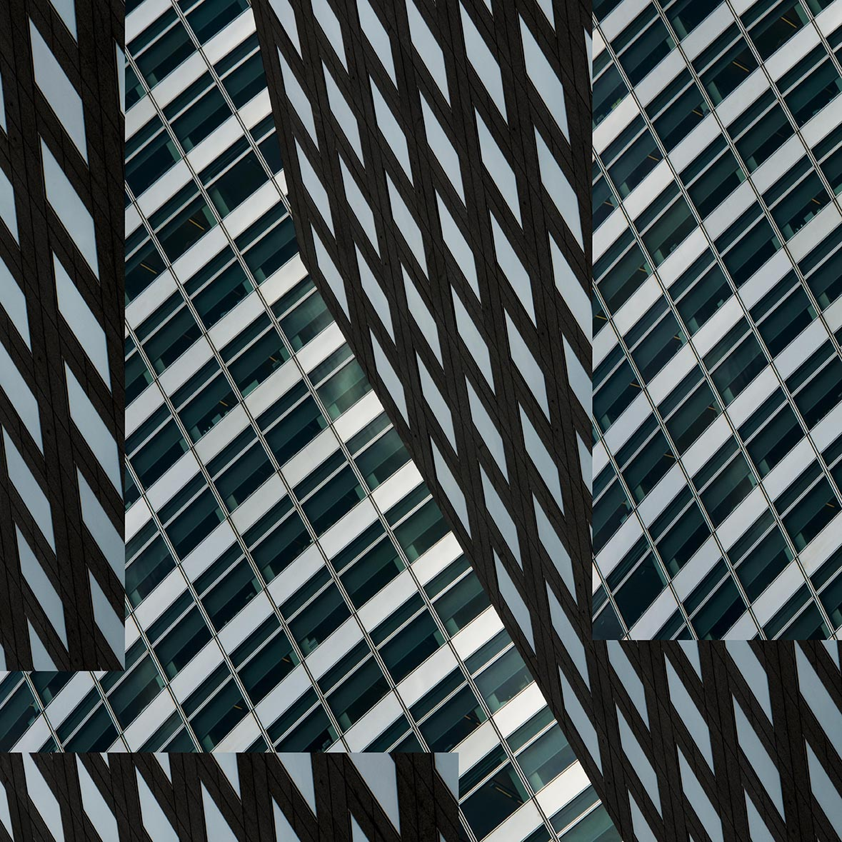 Building V, 2016, Photography printed on metal, 30 x 30 inches