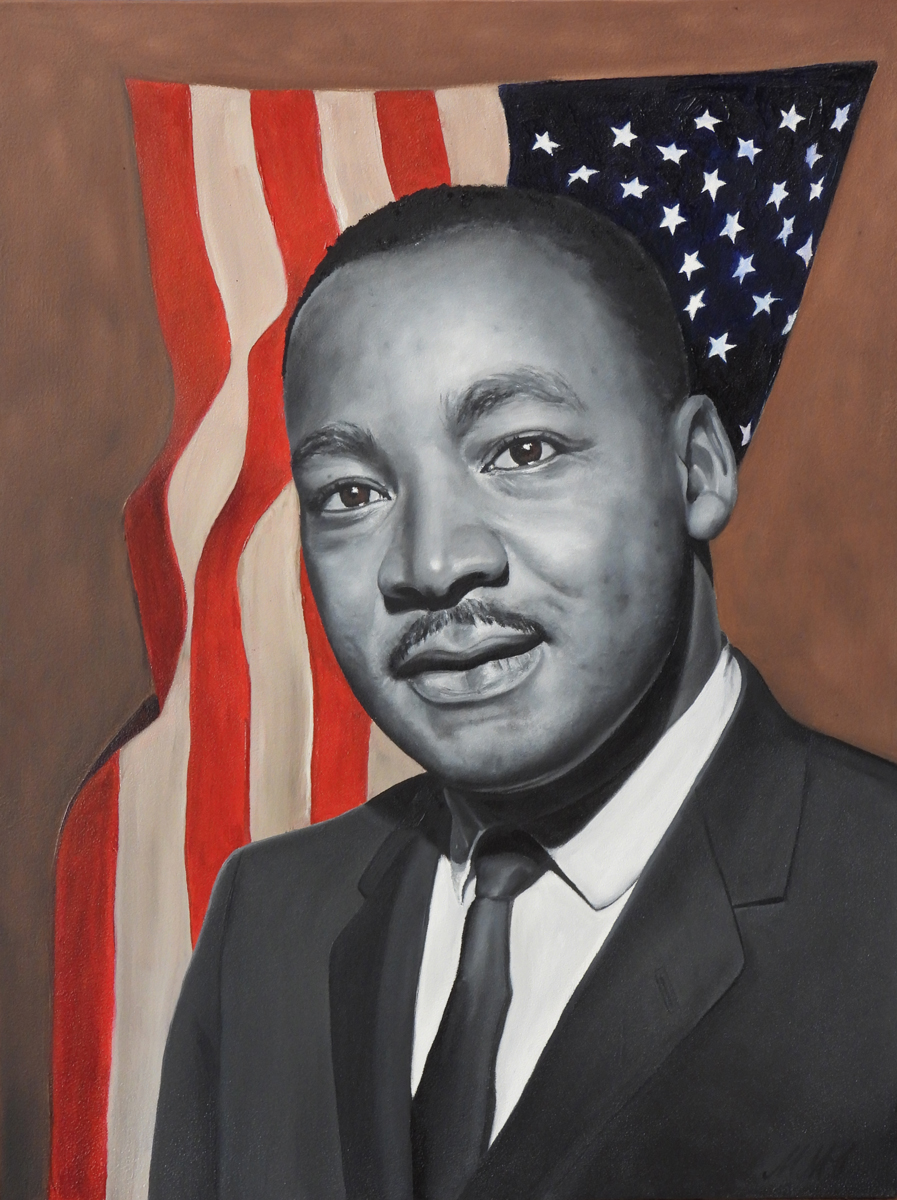 MLK, 2018, Oil on Panel, 16 x 12 inches, $750