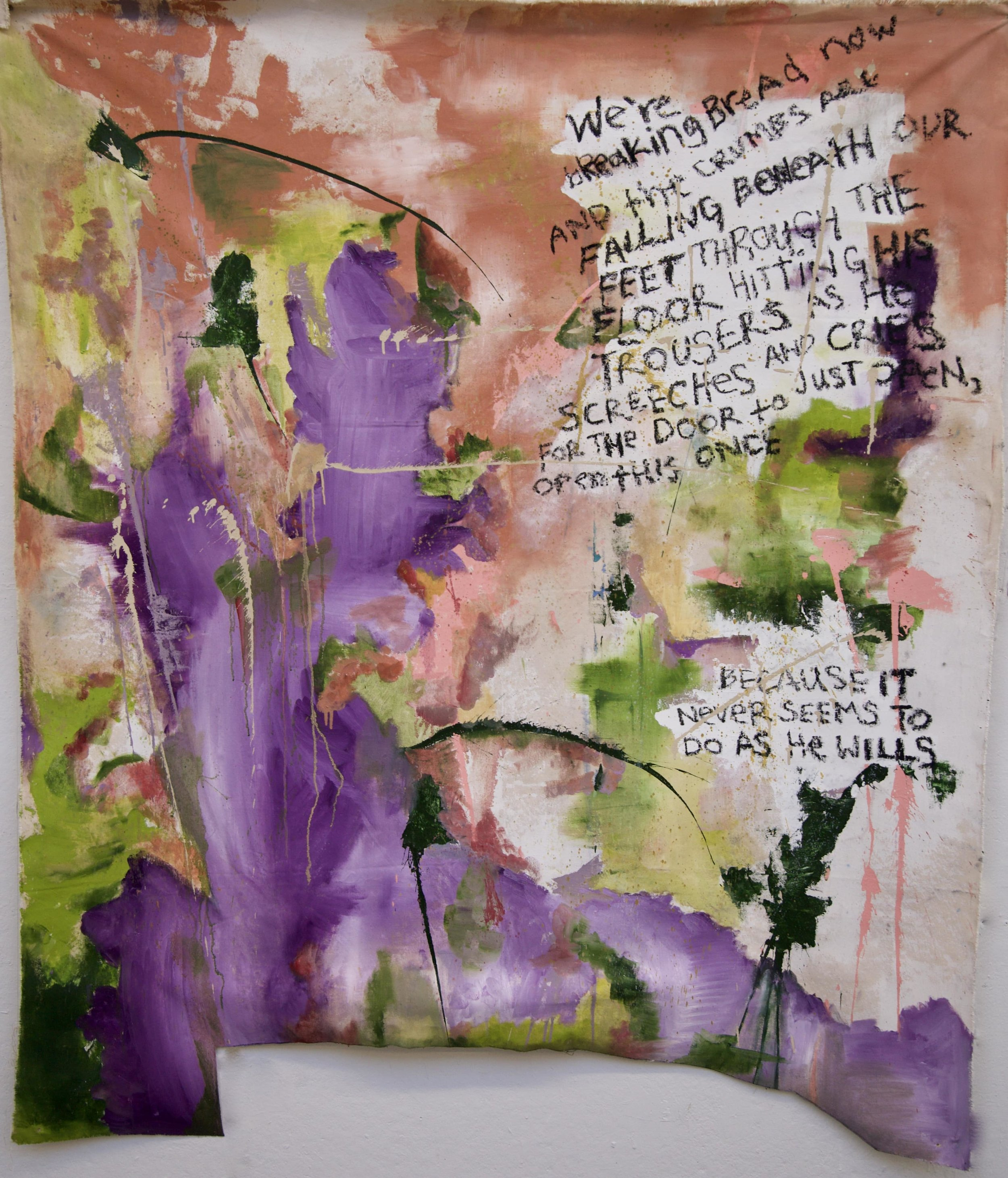 Downstairs Neighbour, 2018, oil on canvas, 6 x 6.5 feet, $1150