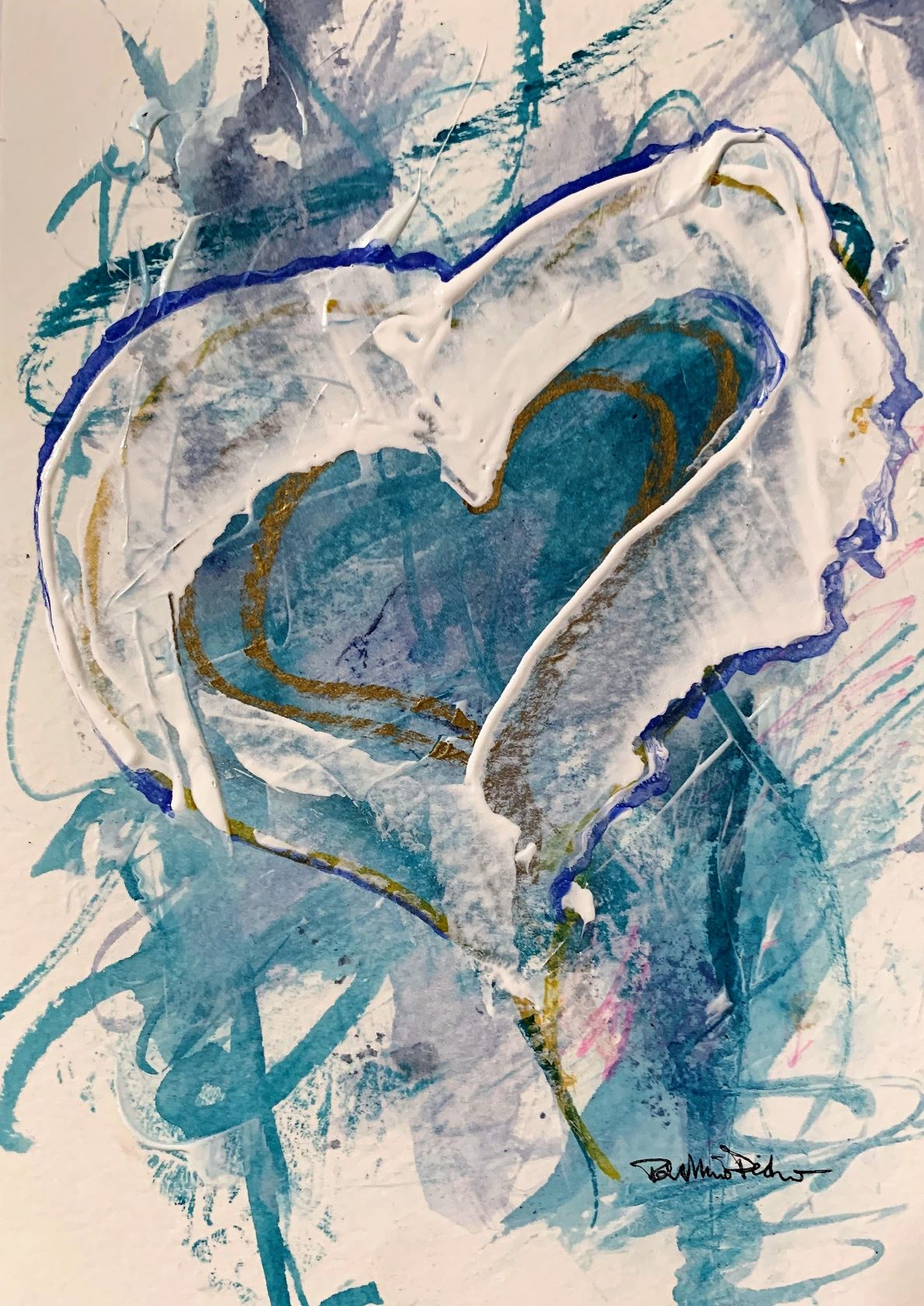 Blue Heart Cool Luvings