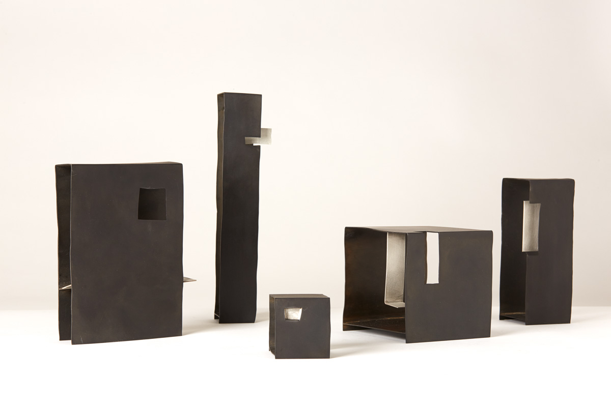 Containers, 2015, Steel and Sterling Silver, 450 x 500 x 300 mm, $4,100