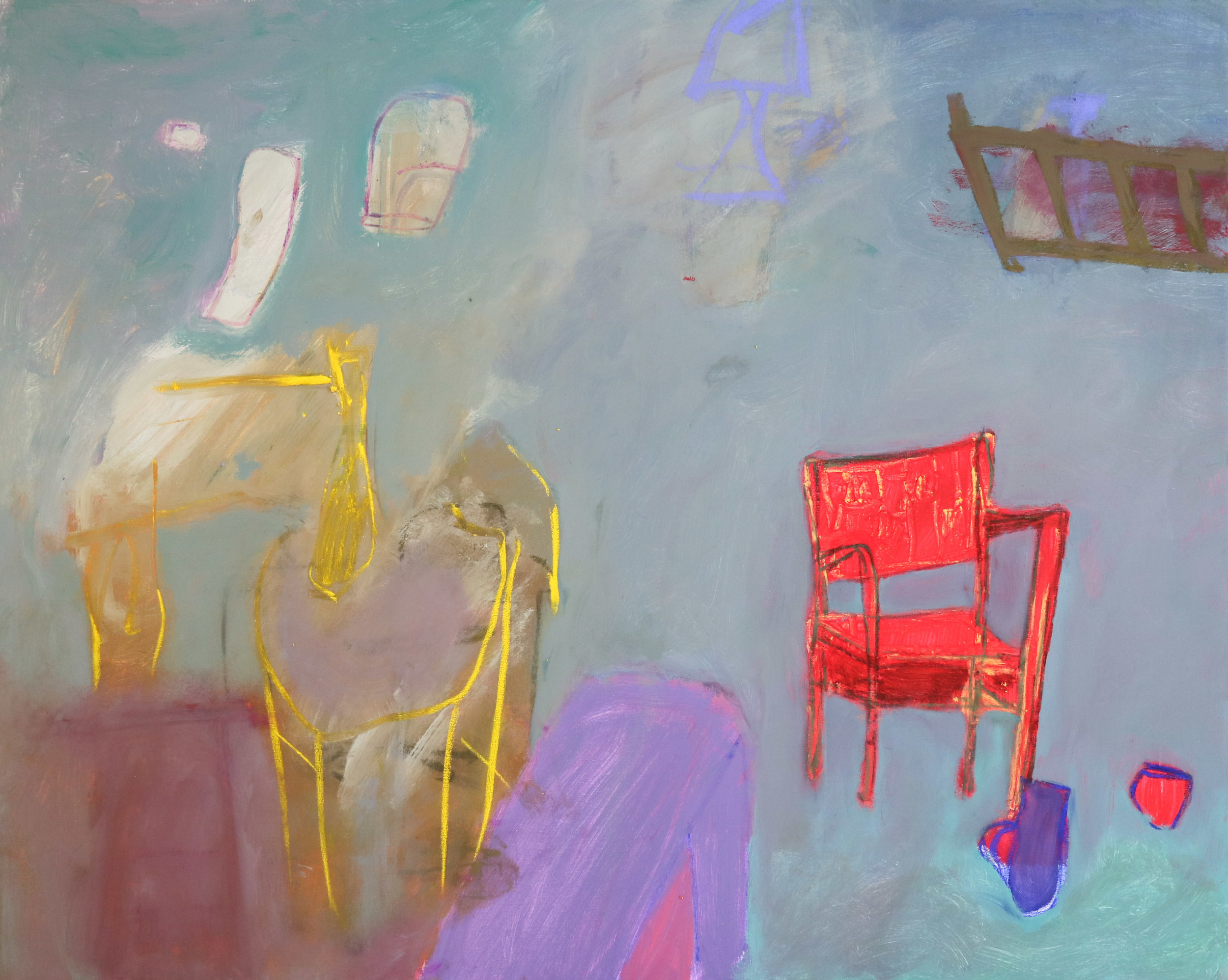 Red Chair in Mint Room II, 2018