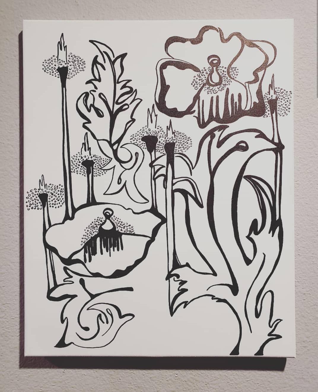Garden of Eden, 2019, black ink