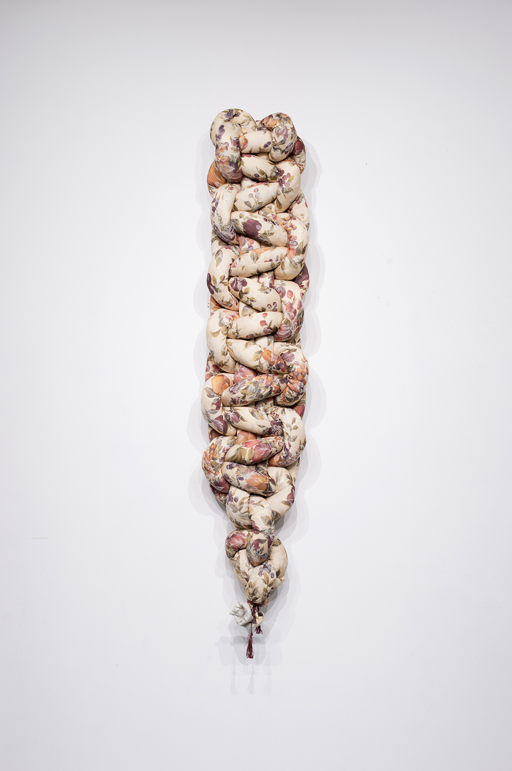 Knots I, 2018, Soft Sculpture, 60 x 12 x 6 inches, $300