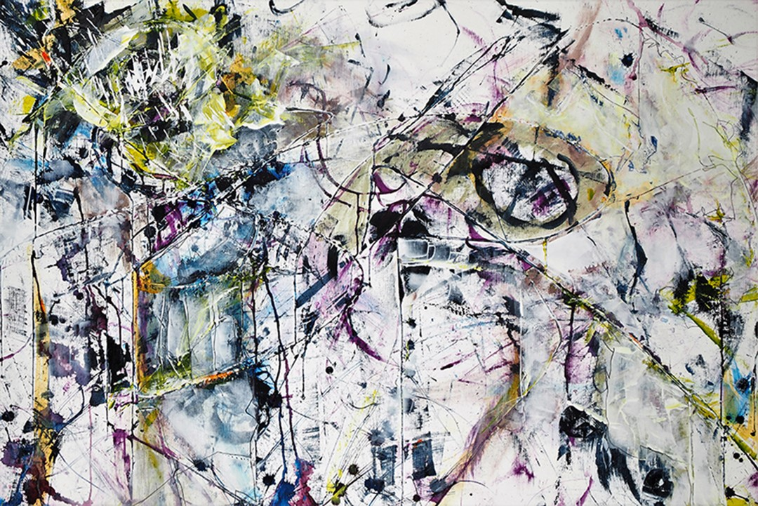 Rhythms, 2018, Acrylics, 24 x 36 inches., $1275