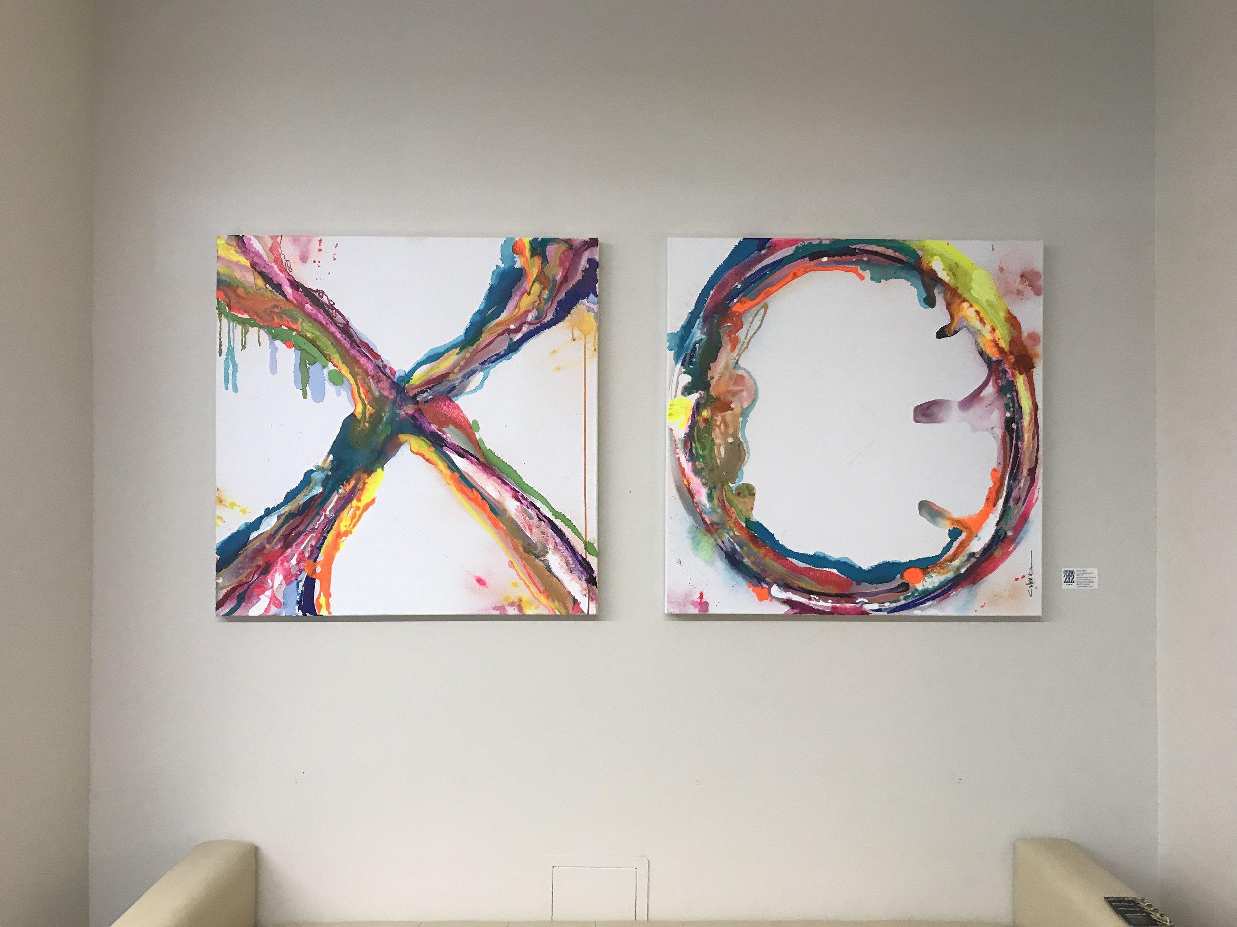 """Love Sweet Love"" Artist Christi Meril. Acrylics on canvas.  @christimerilart"