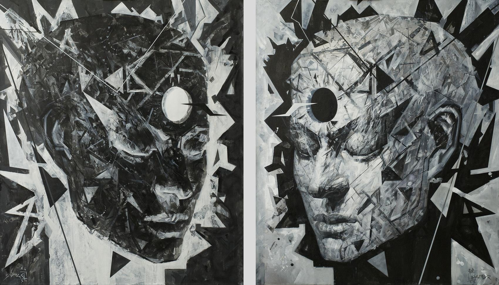 InVersion, 2013, Acrylic on canvas, 140 x 120 cm, $1500