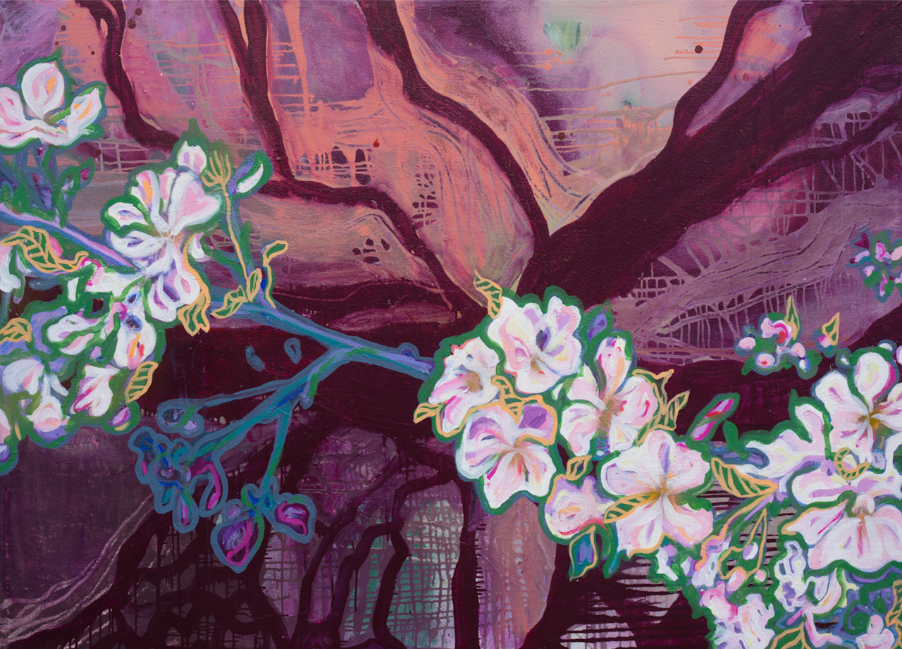 When Old Trees Bloom, 2018, partly hand-colored giclee-print on canvas, limited edition of 50, 30.7 x 22 inches, $520