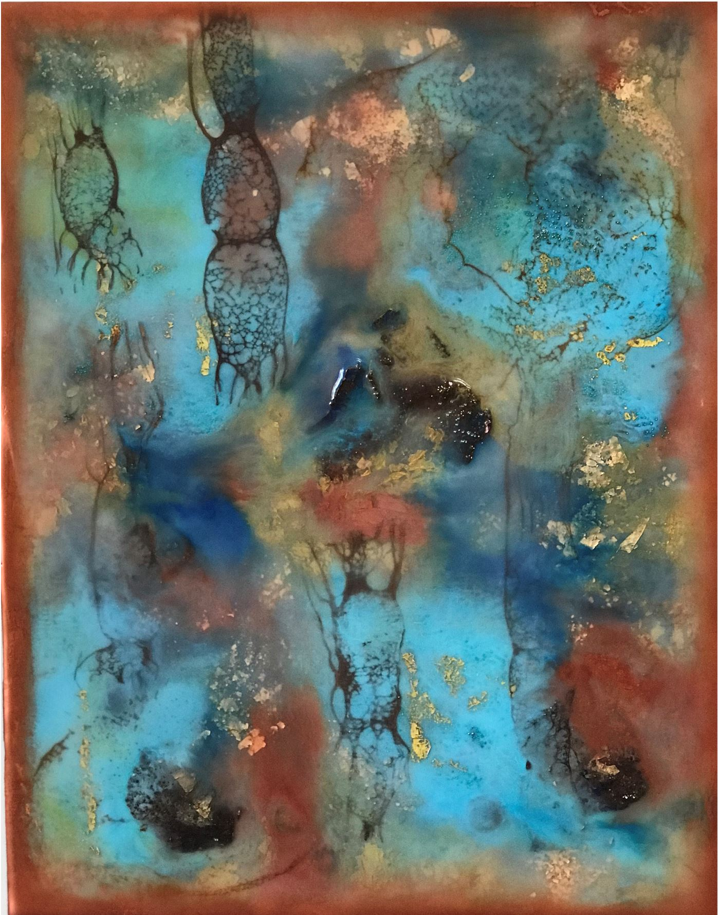 The Looking Glass, 2018, Encaustic, 11 x 14 x 1 inches, $350