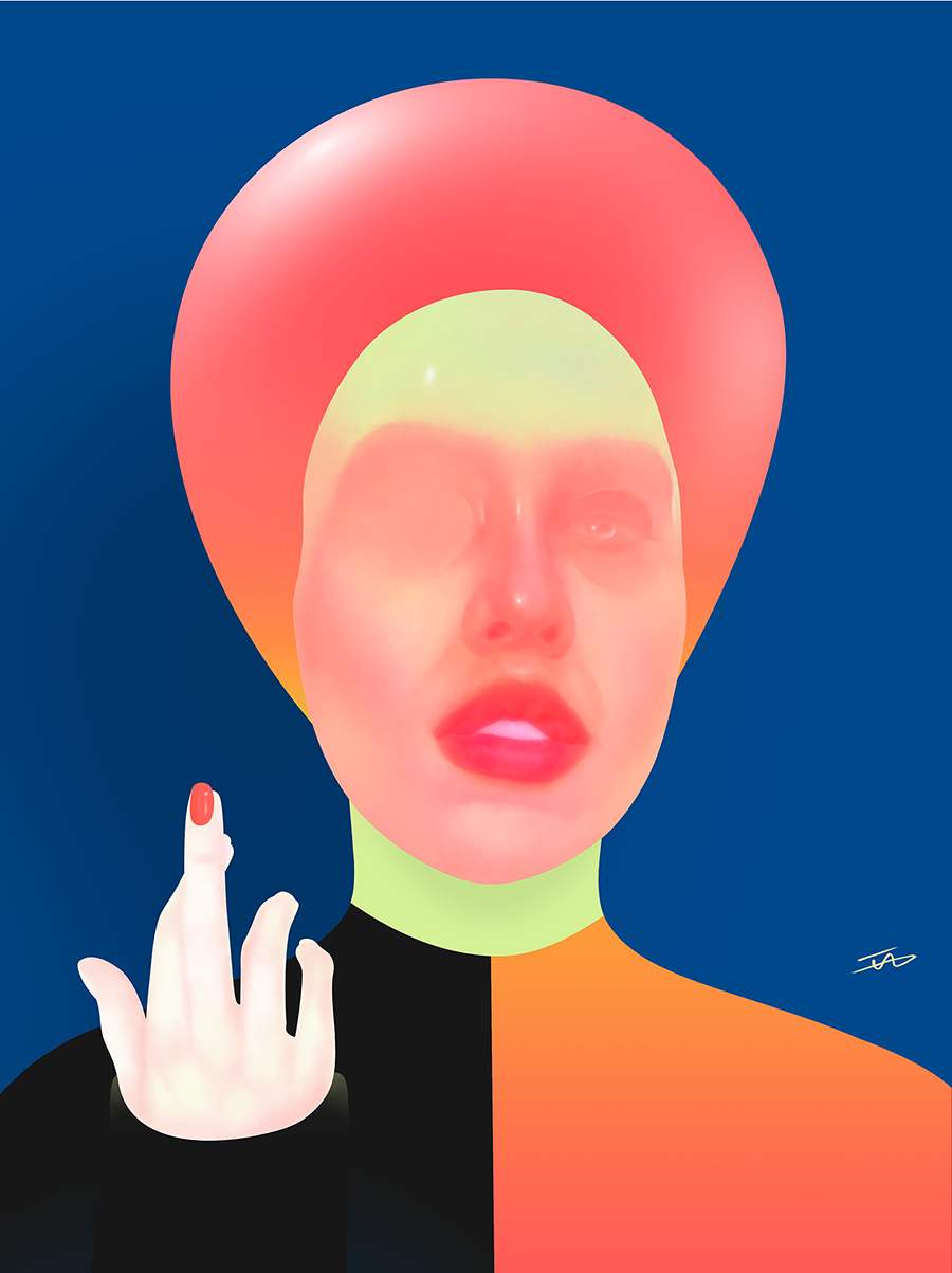 BassSsmM, 2019, Digital art printed on inkjet paper, A3, available at  www.society6.com/islamallam