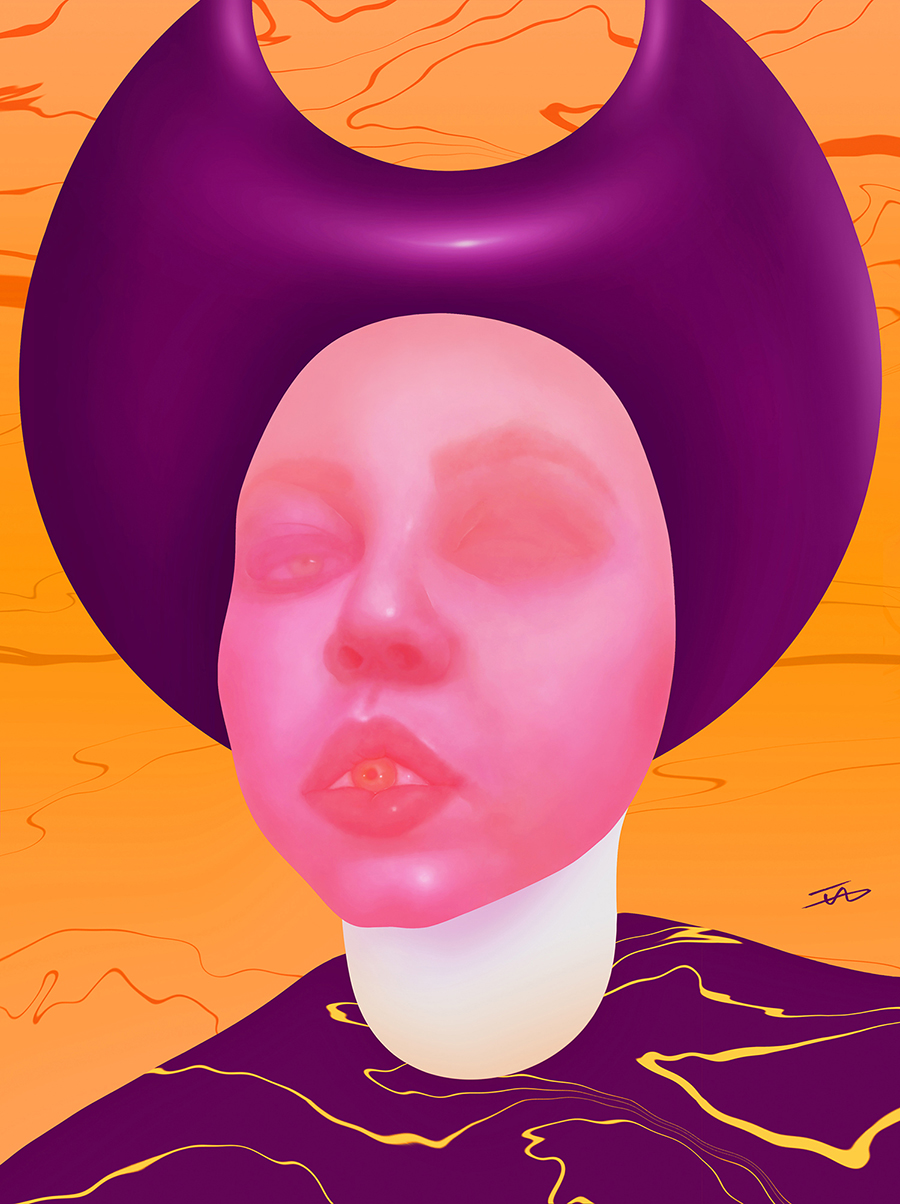DiAnnnNn, 2019, Digital art printed on inkjet paper, A3, available at  www.society6.com/islamallam