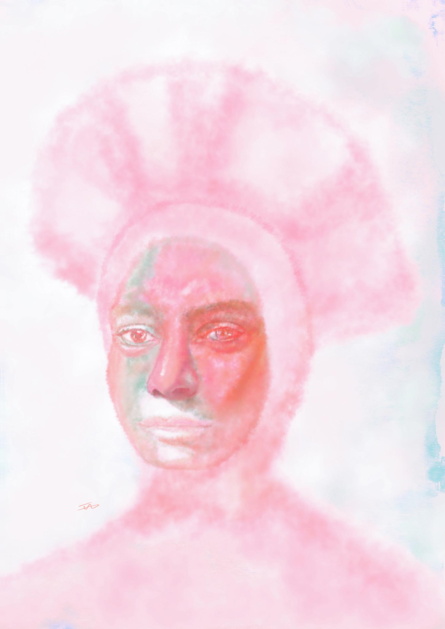 Mariiiiii, 2018, Digital art printed on inkjet paper, A3, available at  www.society6.com/islamallam