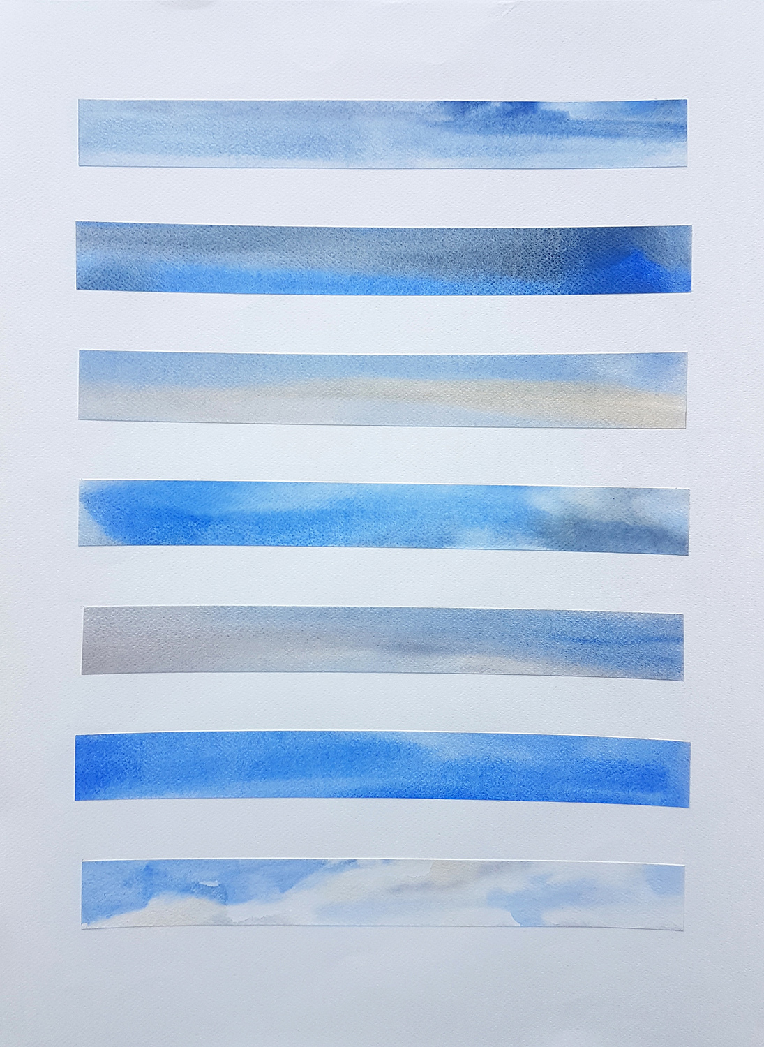 Passing Through 34-17, 2019, Watercolour on paper, 56 x 76 cm, 585 EUR