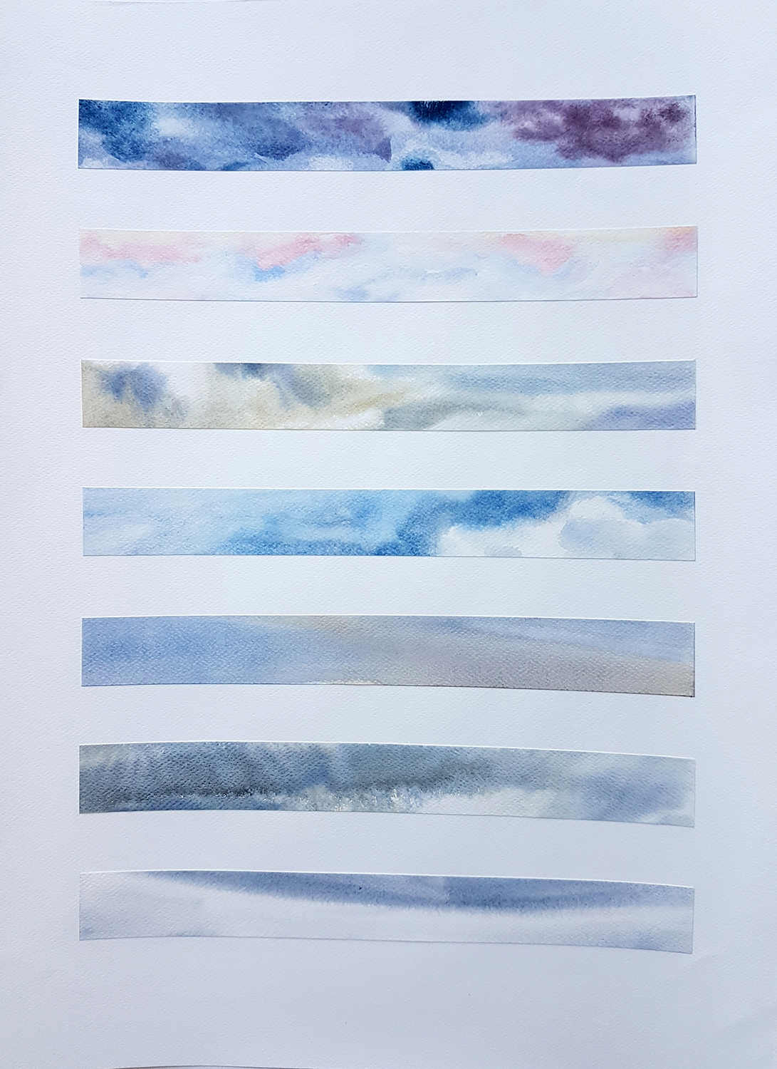 Passing Through 35-17, 2019, Watercolour on paper, 56 x 76 cm, 585 EUR