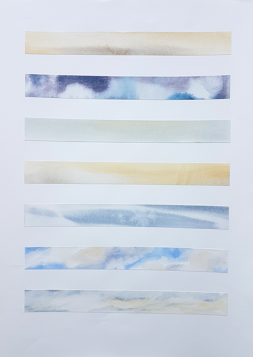Passing Through 38-17, 2019, Watercolour on paper, 56 x 76 cm, 585 EUR