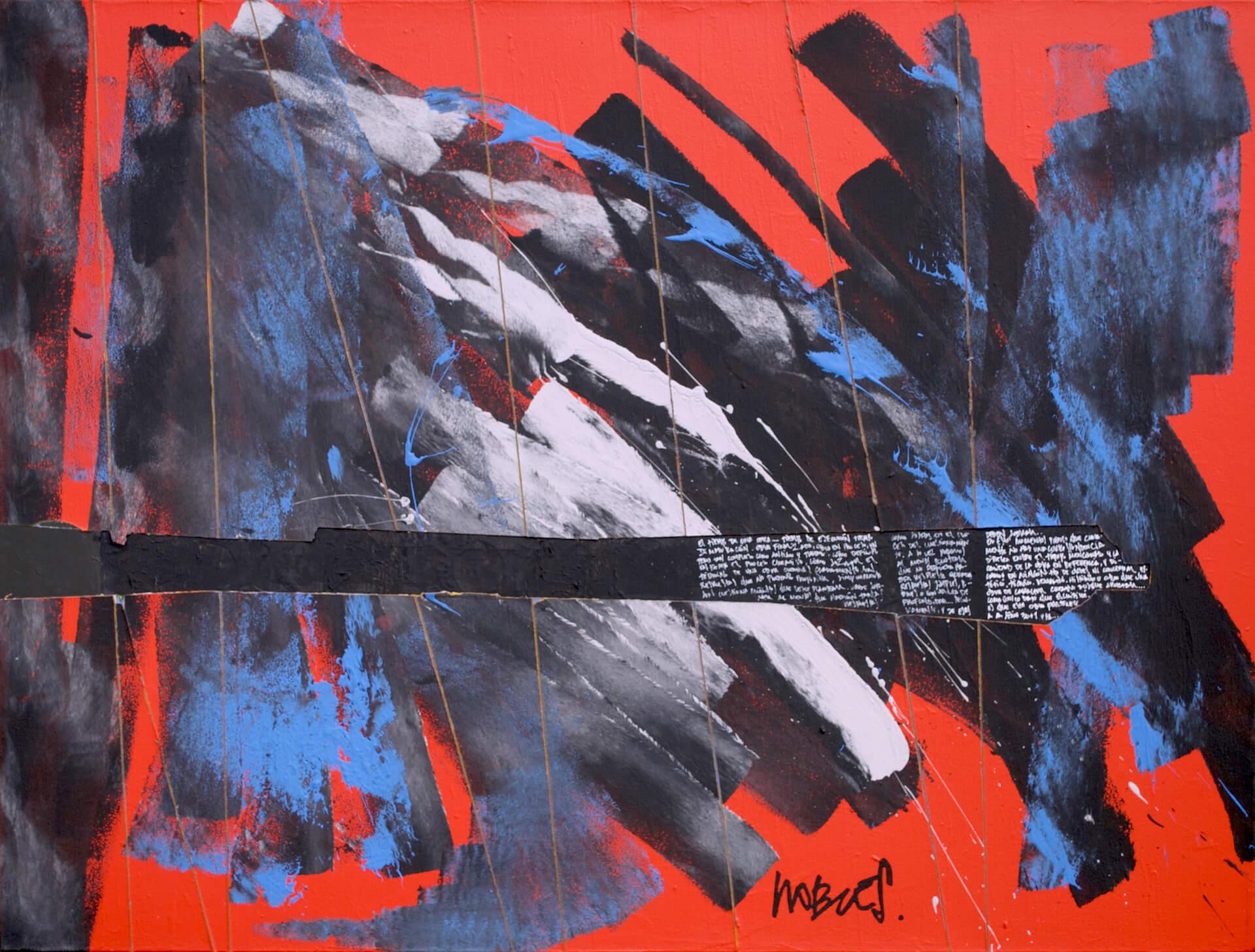 HERIDA ESCRITA, 2019, acrylic, 90 x 120 cm, $925 US