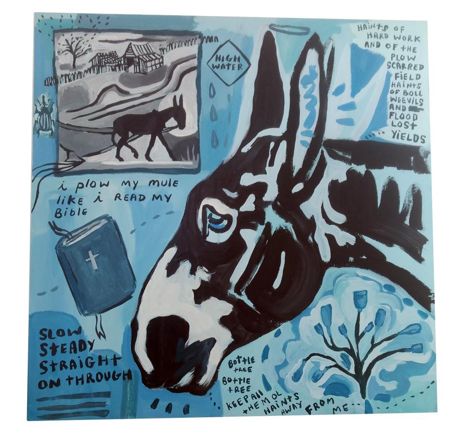 Slow Steady Blues, 2019, acrylic, 2x2', $513
