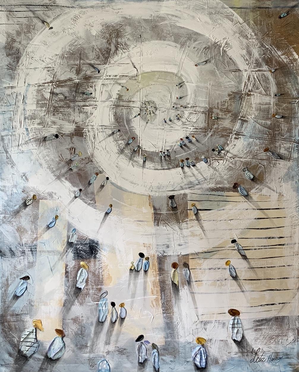Infinite Dream, 2019, Mixed Media, 48 x 48 inches, $2,800