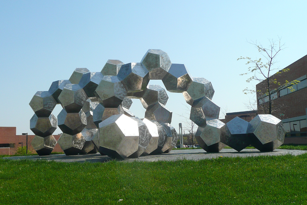 DOUBLE HELIX, 2010, 25' L x 8' H, SOLD