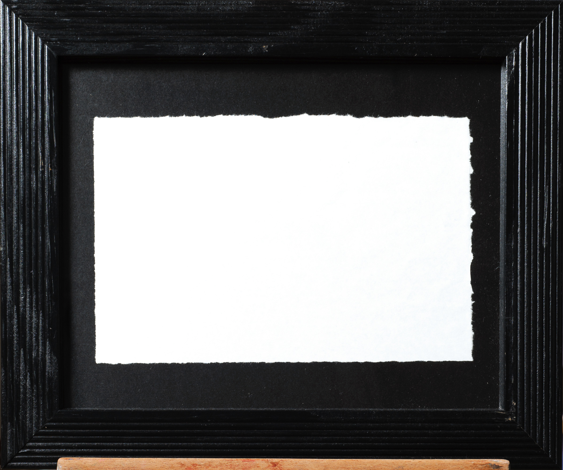 Lack of Consciousness, 2017, torn paper in frame, 10.5 X 12 inches, $300