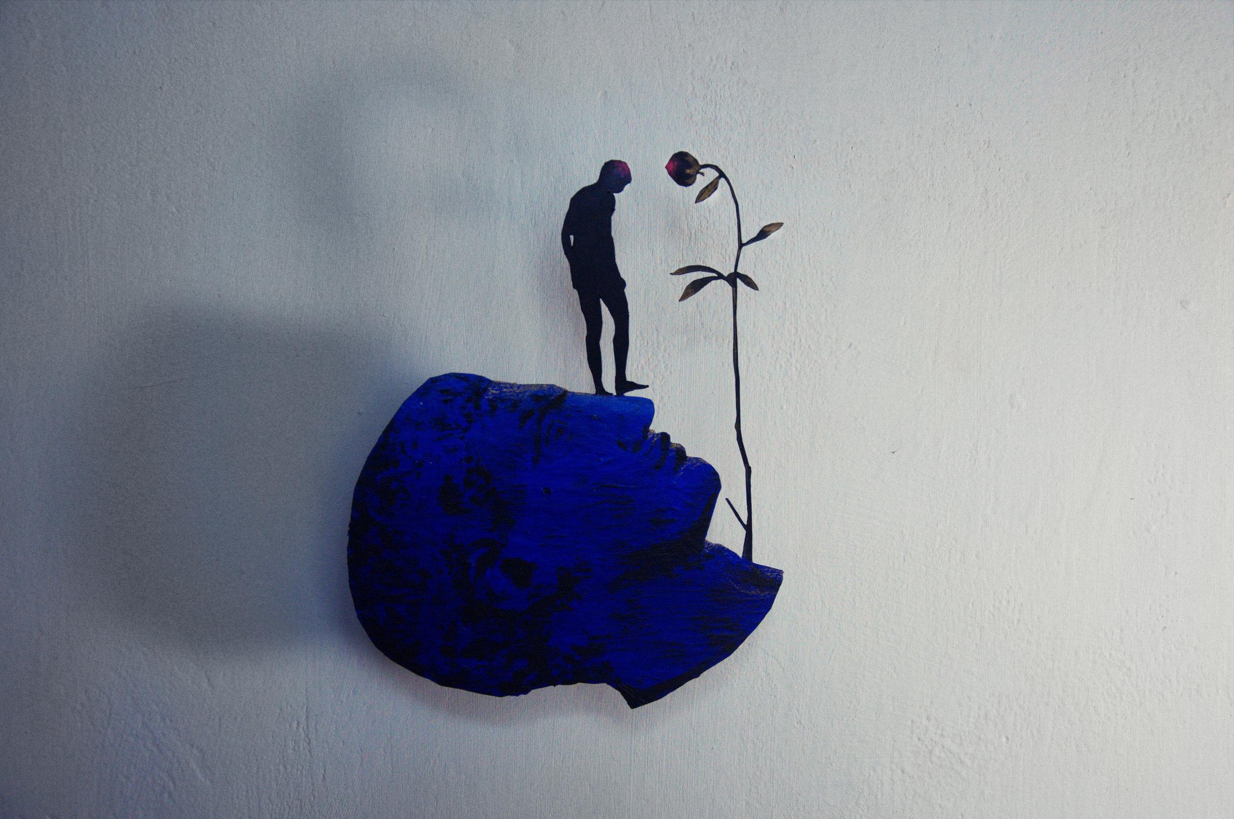 Artist:  Rolands Krutovs . Poetical Mater 1, 2019, fiber, 20 x 20 cm